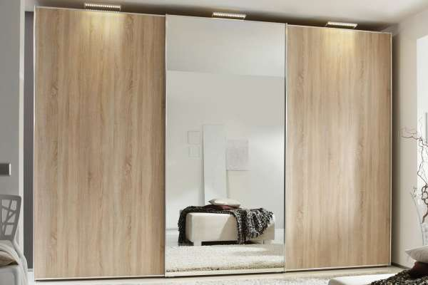 Staud Sinfonie Plus Kleiderschrank Sonoma Eiche mit Spiegel