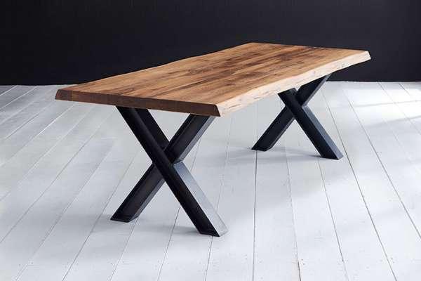 Bodahl Esstisch Concept4You mit Baumkante und X-Bein