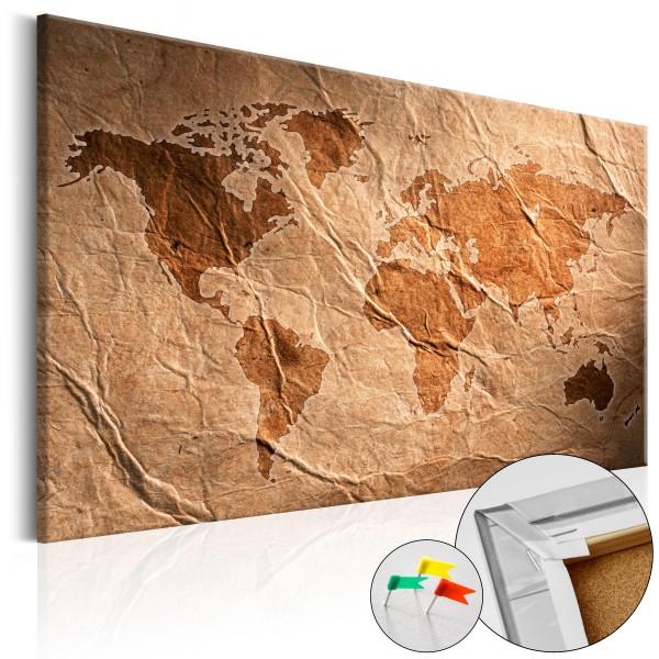 Artgeist Korkbild - Paper Map [Cork Map]