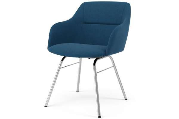 Tenzo 2x Stuhl Brad mit Sofia mit Polyester